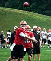 Brandon Weeden throwing in training camp 2012.jpg