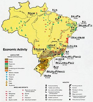 Economy Of Brazil Wikipedia - Us economic activity map