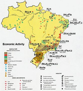 Economy of Brazil - Economic activity in Brazil (1977).