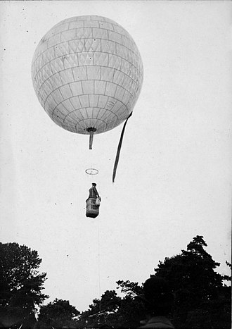 Alberto Santos-Dumont - Santos-Dumont's first balloon, the Bresil