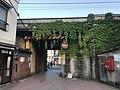 Bridge of Sanyo Main Line in front of Sanroku Station of Senkojiyama Ropeway.jpg