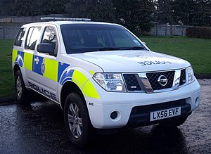 British Transport Police - A British transport police Nissan Pathfinder