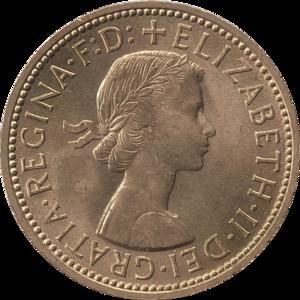 Halfpenny (British pre-decimal coin) - Image: British pre decimal halfpenny 1967 obverse