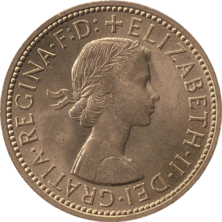 Pre-decimal unit of currency that equalled half of a penny or 1⁄480 of a pound sterling