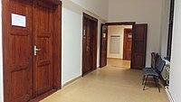 Brno, Kounicova 26, ÚDHPSPH (pohled chodbou zleva, dveře předseda a sekretariát).jpg