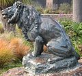 Bronze sculpture of a lion by Roland Hinton Perry, Golden Gate Park.JPG