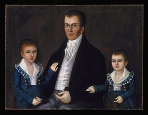 Joshua Johnson (painter) - John Jacob Anderson and Sons, John and Edward, ca. 1812, by Joshua Johnson, in the Brooklyn Museum