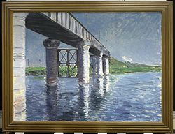 Gustave Caillebotte: The Seine and the Railroad Bridge at Argenteuil
