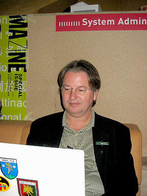 Bruce Sterling at the Ars Electronica Festival