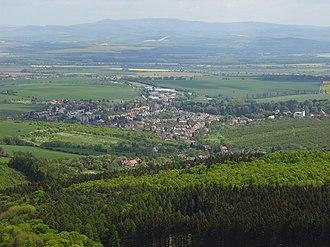 Buchlovice - Image: Buchlovice pohled z Buchlova