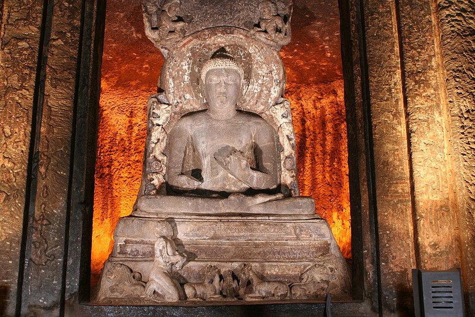 Buddha at Ajanta Caves
