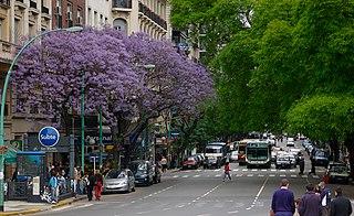 Avenida Santa Fe avenue in Buenos Aires, Argentina
