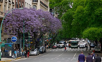 Avenida Santa Fe - Santa Fe Avenue between Maipú and Esmeralda Streets.