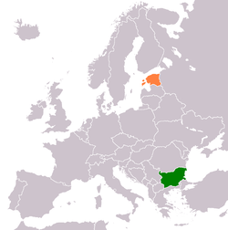 Map indicating locations of Bulgaria and Estonia