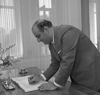 Vice President of Uruguay - Image: Bundesarchiv B 145 Bild F022466 0001, Bonn, Lübke empfängt Nationalrat aus Uruguay