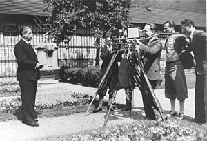 Max Reinhardt - Max Reinhardt is filmed in his garden, 1930.