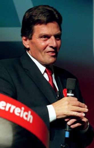 Austrian legislative election, 1999 - Image: Bundeskanzler Viktor Klima