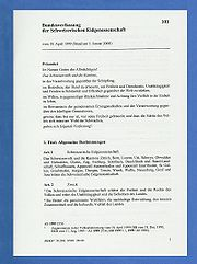 Bundesverfassung Schweiz, auf blauen Untergrund, Seite 1