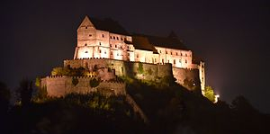 Burghausen Castle - Castle from the Austrian side