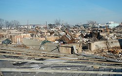 Superstorm Sandy aftermath in Breezy Point, Queens