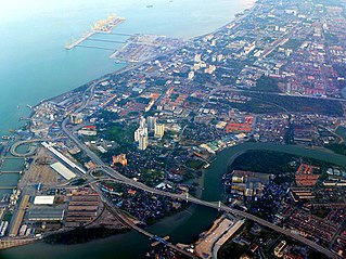 City in Penang, Malaysia