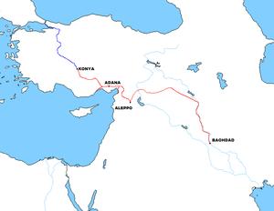 Baghdad Railway Wikipedia - Berlin on world map