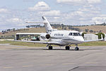 CML Aviation (VH-NKD) Hawker 900XP taxiing at Wagga Wagga Airport.jpg