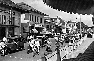 Great Post Road - The Great Post Road runs through Bandung in 1938 (today Jalan Asia-Afrika)