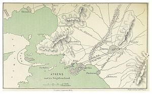 History of Athens - Map of the Environs of Ancient Athens