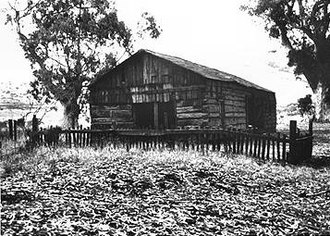 Rancho El Sur - The Cooper cabin, originally built in April or May 1861, is the oldest surviving structure in Big Sur.