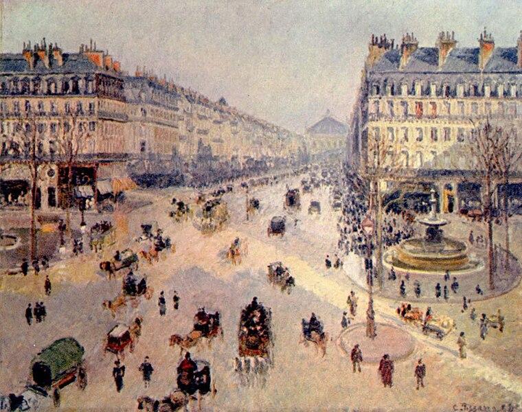 File:Camille Pissarro - Avenue de l'Opera - Musée des Beaux-Arts Reims.jpg