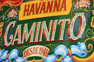 Havanna (Argentine company) - Sign at the Havanna store in Caminito, La Boca, Buenos Aires