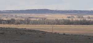 National Register of Historic Places listings in Morrill County, Nebraska - Image: Camp Clarke bridge site view from N
