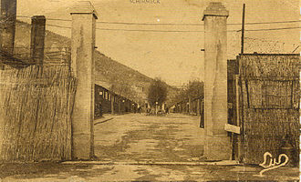 Schirmeck -  Camp de travail obligatoire de Schirmeck en 1944.