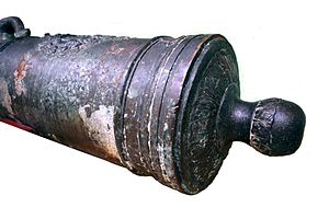 Cascabel (artillery) - Cascabel on a French naval cannon