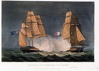 HMS Phoebe (1795) - Image: Capture of Nereide