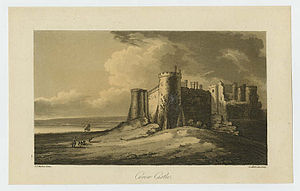 John Thomas Barber Beaumont - Carew Castle, engraving by Samuel Alken after John Thomas Barber.