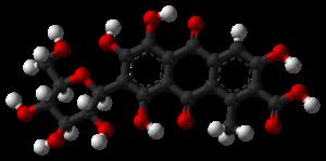 Carminic acid - Image: Carminic acid 3D balls