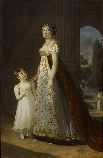 Caroline Bonaparte - Caroline Murat and daughter Letizia in 1807. Painting by Élisabeth Vigée-Lebrun.