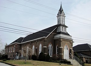 Carthage United Methodist Church - The Carthage United Methodist Church in 2010