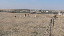Carver homestead monument (Ness Co KS) looking N 1.JPG