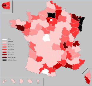 Frankreich Coronavirus Fälle
