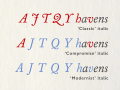 Caslon classic and modernised italics.png