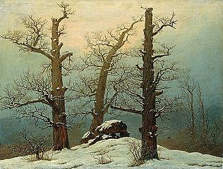 tombeau hun sous la neige