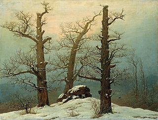 <i>Cairn in Snow</i> painting by Caspar David Friedrich
