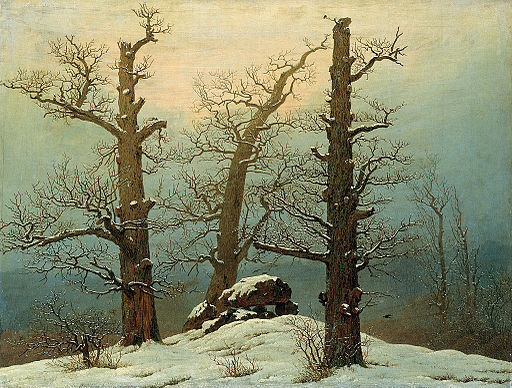 Caspar David Friedrich - Cairn in Snow - Google Art Project