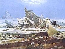 Caspar David Friedrich: Das Eismeer, 1823/24 (Quelle: Wikimedia)