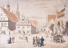 Caspar David Friedrich: Der Greifswalder Markt, 1818 (Quelle: Wikimedia)