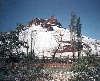 Montiel - Image: Castillo de la Estrella Montiel (nevado)