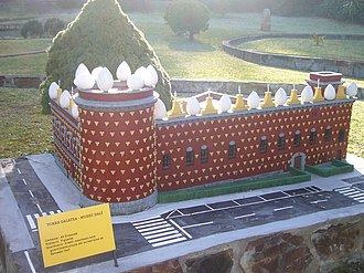 Dalí Theatre and Museum - Image: Catalunya en Miniatura Torre Galatea (Museu Dalí de Figueres)